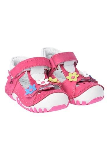 Kiko Kids Kiko Kids Teo 115 %100 Deri Orto pedik Cırtlı Kız Çocuk Ayakkabı Fuşya